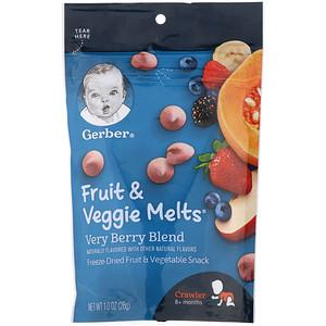 Гербер, Fruit & Veggie Melts,  8+ Months, Very Berry Blend, 1.0 oz (28 g) отзывы