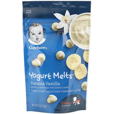 Купить Gerber Yogurt Melts, йогурт для малышей от 8месяцев, банан и ваниль, 28г (1унция)