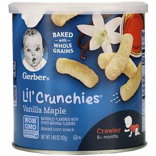 Gerber, Lil' Crunchies، للرضع، أكبر من 8 أشهر، بالفانيليا وشراب القيقب، 1.48 أونصة (42 جم)