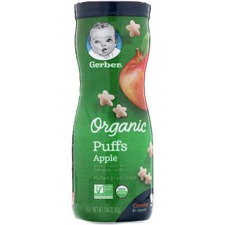 Gerber, Organic Puffs, Apple, 1.48 oz (42 g)