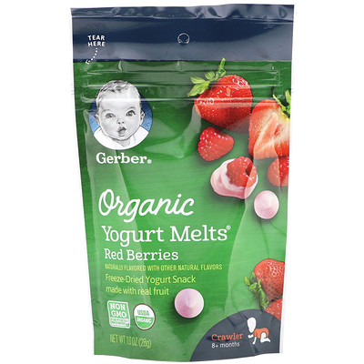 Купить Organic Yogurt Melts, 8 + Months, Red Berries, 1.0 oz (28 g)