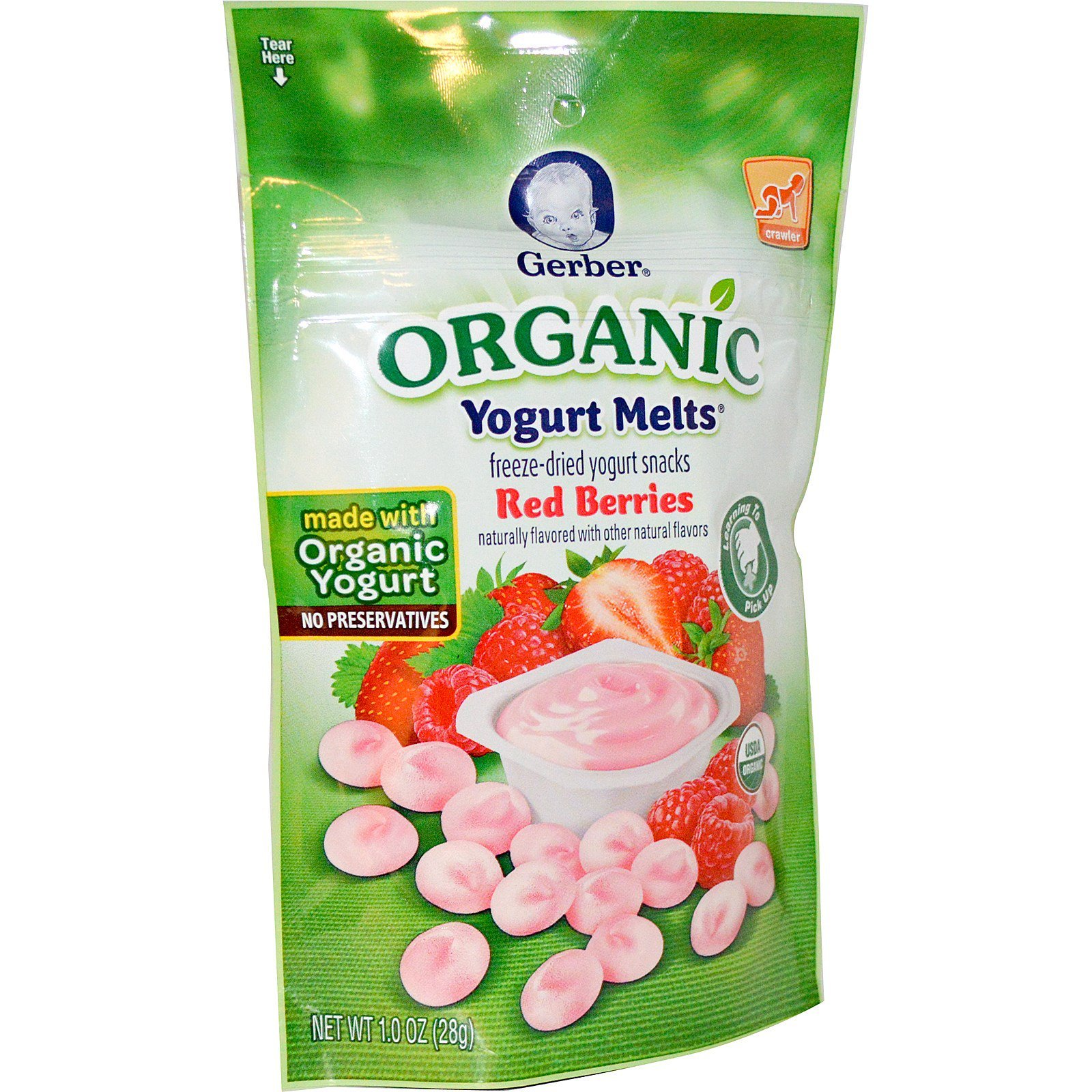 This item: Gerber Organic Yogurt Melts Fruit Snacks, Banana and Strawberry, 1 Ounce (Pack of 7) $ ($ / Ounce) In Stock. Ships from and sold by eastreads.ml().