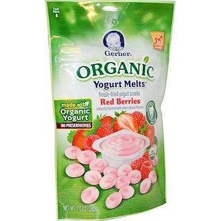 Gerber, Organic Yogurt Melts, Red Berries, 1.0 oz (28 g)