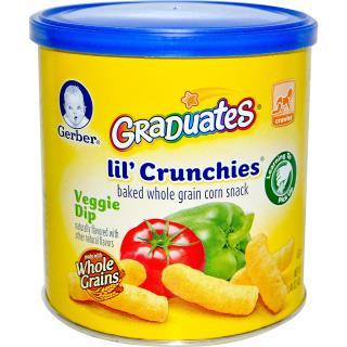 Gerber, Graduates, Lil' Crunchies, Veggie Dip, 1.48 oz (42 g)