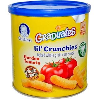 Gerber, 그래쥬에이츠, 릴' 크런치스, 가든 토마토, 기는 아기, 1.48 온스 (42 g)