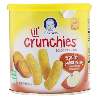 Gerber, Lil' Crunchies, Crawler, Apple, Sweet Potato, 1.48 oz (42 g)