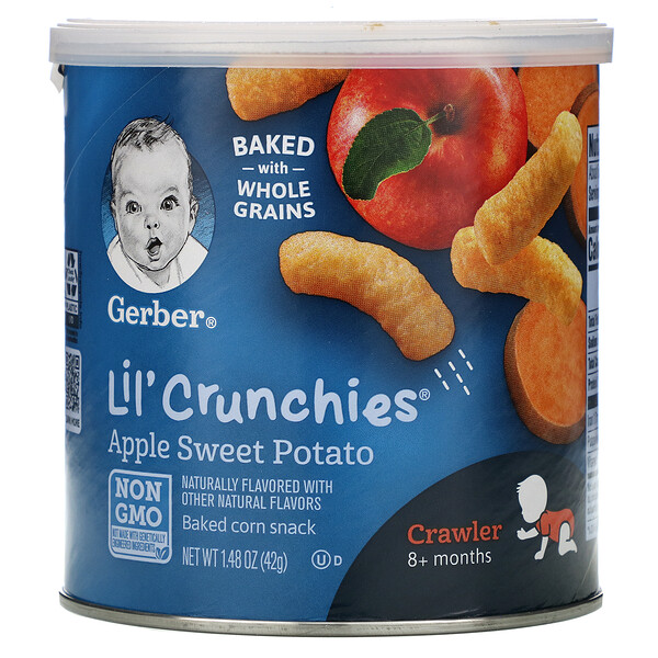 Lil' Crunchies, 8+ Months, Apple Sweet Potato, 1.48 oz (42 g)