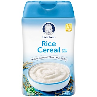 Gerber, Rice Cereal, Single Grain, 8 oz (227 g)