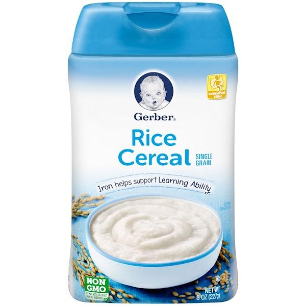 Gerber, Rice Cereal, Single Grain, 8 oz (227 g)