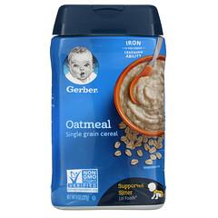 Gerber, 燕麥片,單粒穀物,8 盎司(227 克)