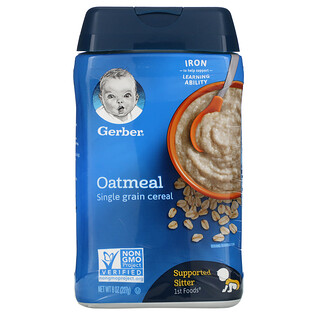 Gerber, 燕麦片,单粒谷物,8 盎司(227 克)