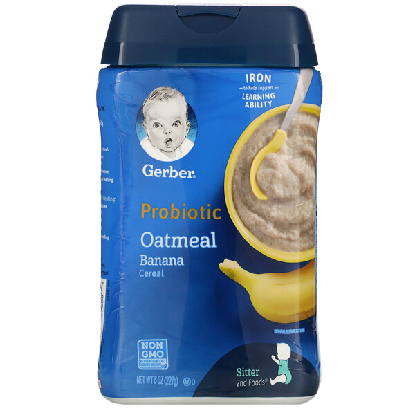 Probiotic Oatmeal Cereal, Banana,  8 oz (227 g)