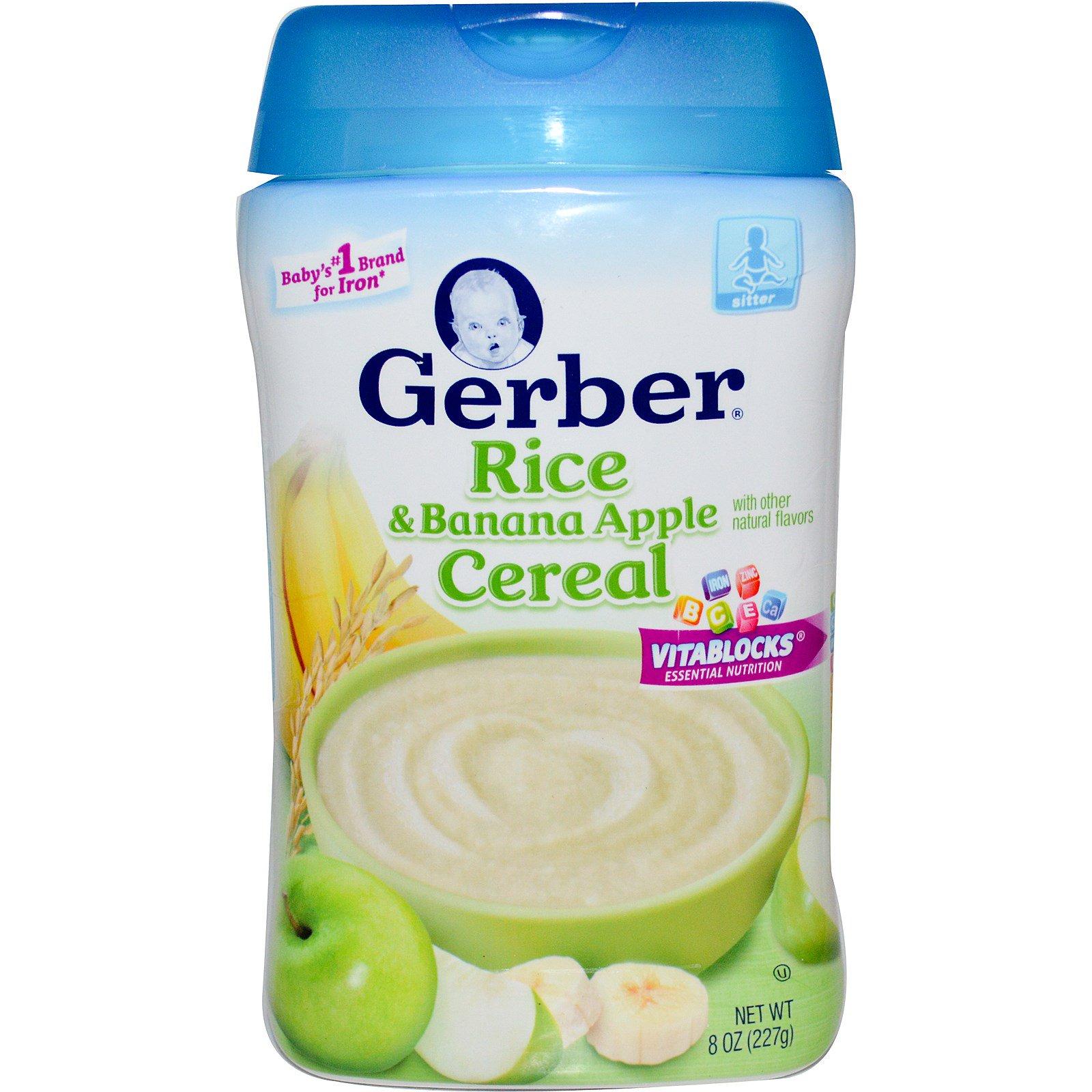 Gerber, Rice & Banana Apple Cereal, 8 Oz (227 G)