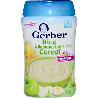 Gerber, Rice & Banana Apple Cereal, 8 oz (227 g)