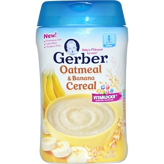 Gerber, Oatmeal & Banana Cereal, 8 oz (227 g)