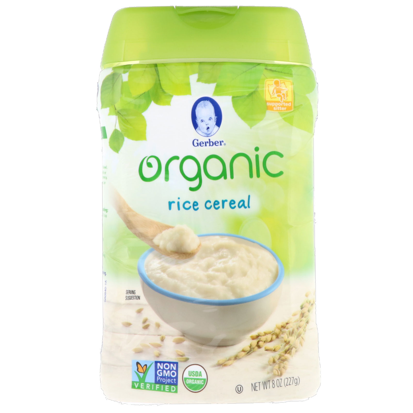 Gerber, Organic, Rice Cereal, Supported Sitter, 8 Oz (227