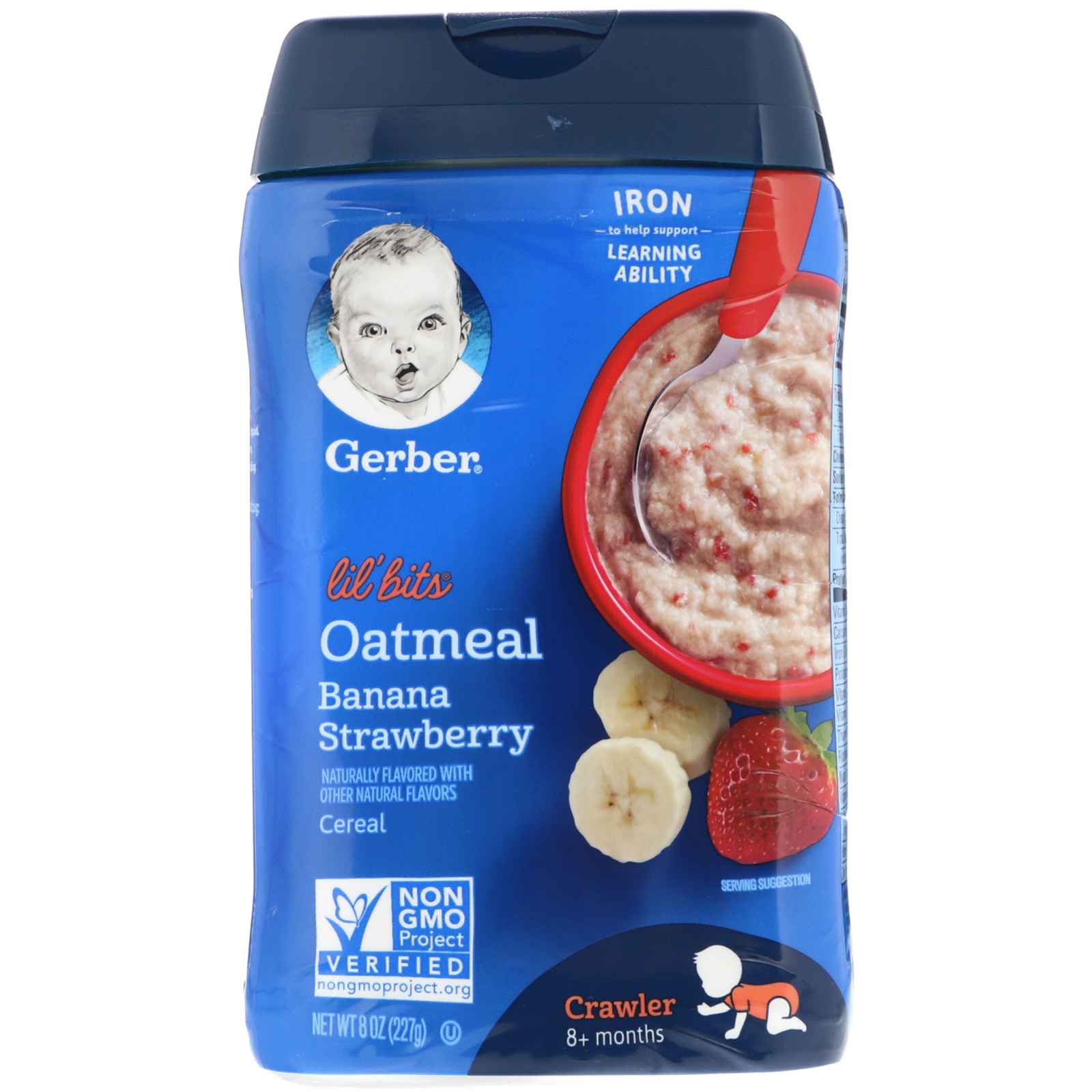 Gerber, Lil' Bits, Oatmeal Cereal, Crawler, 8+ Months