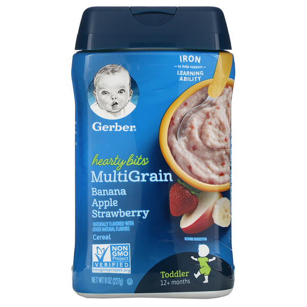 Hearty Bits, MultiGrain Cereal, 12+ Months, Banana, Apple, Strawberry, 8 oz (227 g)