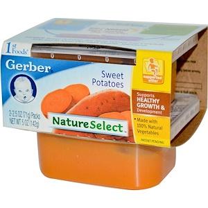 Гербер, 1st Foods, NatureSelect, Sweet Potatoes, 2 Packs, 2.5 oz (71 g) Each отзывы покупателей