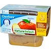 Gerber, 1st Foods, NatureSelect, りんご, 2 パック, 各2.5 oz (71 g)