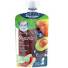 Gerber, Organic, Smart Flow, Sitter, 2nd Foods, Pear, Blueberry, Apple, Avocado, 3.5 oz (99 g)