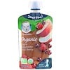 Gerber, Smart Flow, Organic, Apple, Raspberry, Acai Berry, 3.5 oz (99 g)