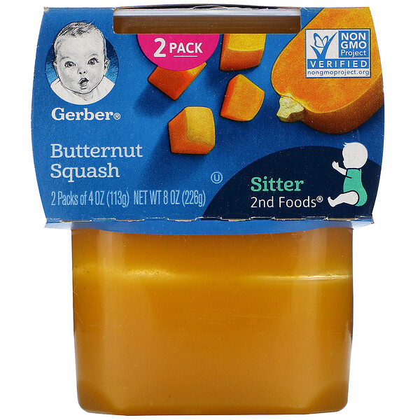 Gerber, Butternut Squash, 2 Packs, 4 oz (113 g) Each