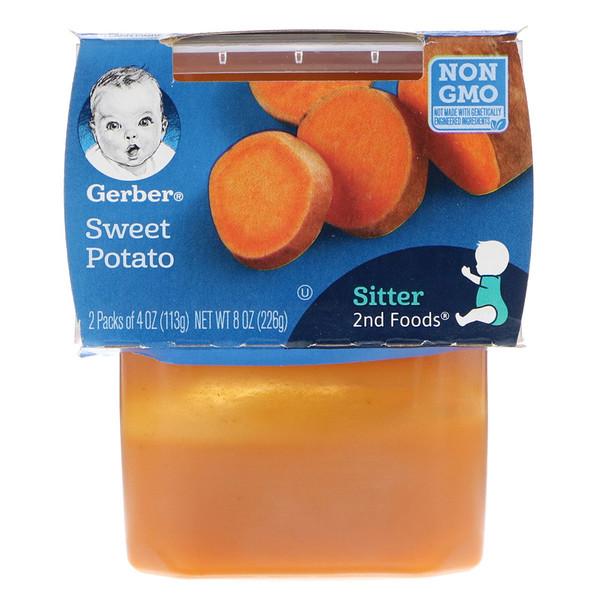 Gerber, 2nd Foods, Sweet Potato, 2 Pack, 4 oz (113 g) Each