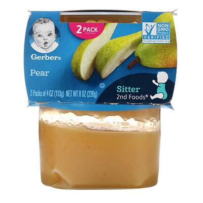 Купить Gerber груша, 2баночки в упаковке, 113г (4унции) в каждой