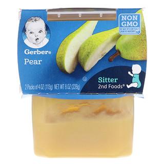 Gerber, 2nd Foods, Pear, 2 Pack, 4 oz (113 g) Each