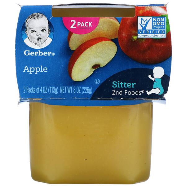Apple, 2nd Foods, 2 Pack, 4 oz (113 g) Each
