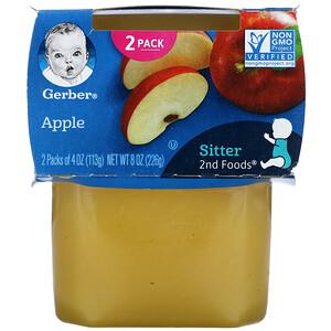 Gerber, Apple, Sitter, 2 Pack, 4 oz (113 g) Each