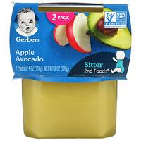 Gerber, Apple Avocado, Sitter, 2 Pack, 4 oz (113 g) Each