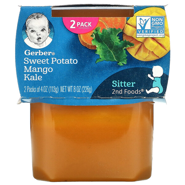 Sweet Potato Mango Kale, Sitter, 2 Packs, 4 oz (113 g) Each