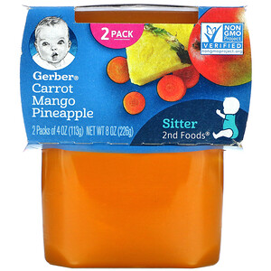 Gerber, Carrot Mango Pineapple, Sitter, 2 Pack, 4 oz (113 g) Each