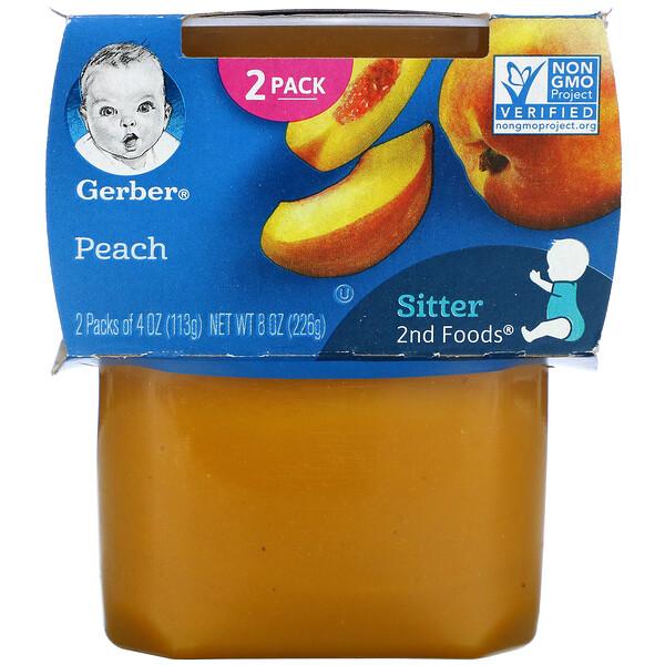 Peach, Sitter, 2 Pack, 4 oz (113 g) Each