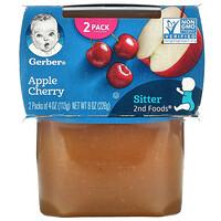 Gerber, Apple Cherry, Sitter, 2 Pack, 4 oz (113 g) Each