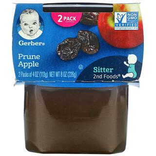 Gerber, Prune Apple, 2nd Foods, 2 Pack, 4 oz (113 g) Each