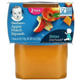 Gerber, Apple Peach Squash, 2nd Foods, 2 Pack, 4 oz (113 g) Each