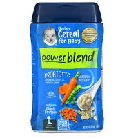 Gerber, Powerblend Cereal for Baby, Probiotic Oatmeal, Lentil, Carrots & Peas, 2nd Foods, 8 oz (227 g)