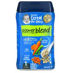 Gerber, 嬰兒 Powerblend 麥片,益生菌燕麥片,扁豆,胡蘿卜和豌豆,第 2 階段輔食,8 盎司(227 克)