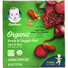 Gerber, Organic Fruit & Veggie Bar, 12+ months, Date & Beet, 5 Individually Wrapped Bars, 4.2 oz (120 g)