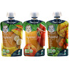 Gerber, 有机组合包,芒果苹果胡萝卜羽衣甘蓝,苹果桃,香蕉芒果,9 小袋,每小袋 3.5 盎司(99 克)
