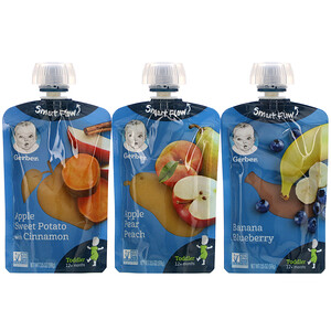 Gerber, Value Pack, 12+ Months, Favorite Fruit & Veggie, 9 Pouches, 3.5 oz (99 g) Each'