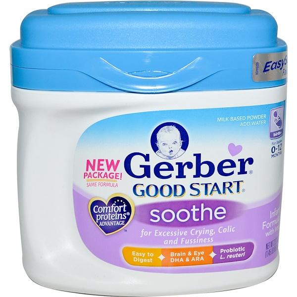 Gerber, Good Start, Soothe, Infant Formula w/Iron, Birth+, 23.2 oz (657 g) (Discontinued Item)