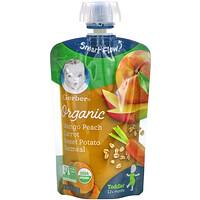Gerber, Organic Mango, Peach, Carrot, Sweet Potato, Oatmeal, 12+ Months, 3.5 oz (99 g)