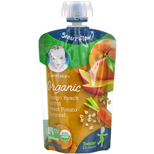 Organic Mango, Peach, Carrot, Sweet Potato, Oatmeal, Toddler, 12+ Months, 3.5 oz (99 g)