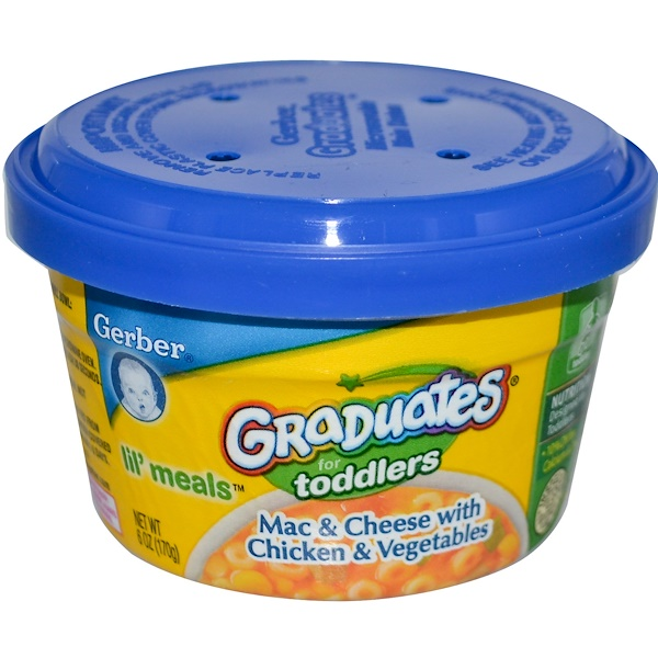 Gerber, Graduates for Toddlers, Lil' Meals, Мак'н' чиз с курицей и овощами 6 унции (170 г) (Discontinued Item)