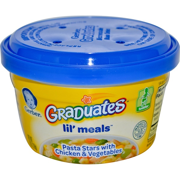Gerber, Graduates for Toddlers, Lil' Meals, Pasta Stars with Chicken and Vegetables, 6 oz (170 g) (Discontinued Item)