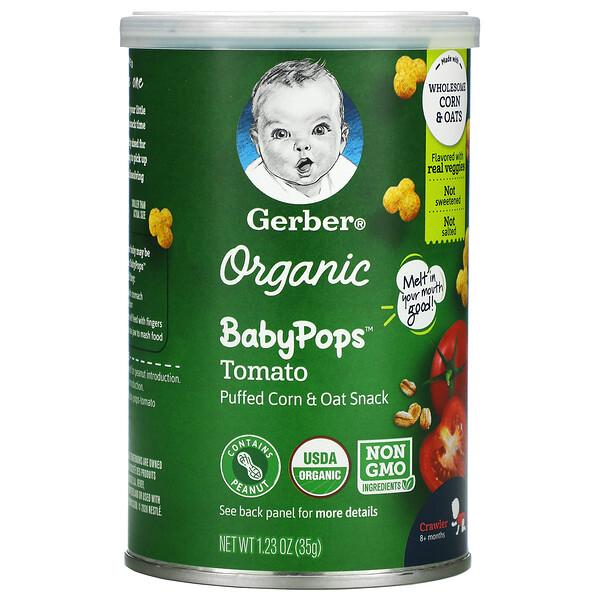 Gerber, Organic Baby Pops, Tomato, Crawler, 8+ Months, 1.23 oz (35 g)